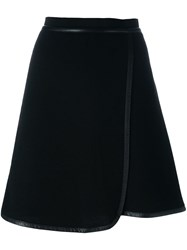 Carven Short A Line Skirt Black