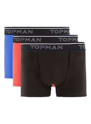 Topman Multi Assorted Colour Hipster Underwear 3 Pack