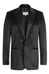 Maison Martin Margiela Silk Cotton Satin Blazer Black