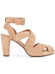 Chie Mihara Ghanaante Sandals Women Calf Leather Leather 39.5 Nude Neutrals