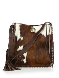 Ralph Lauren Whipstitched Calf Hair Hobo Bag