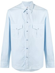 Aspesi Two Pocket Shirt Men Cotton 40 Blue