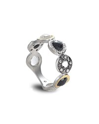 Coomi Opera Black Spinel Ring With Diamonds