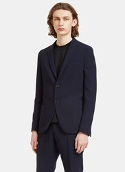 Fendi Technical Single Breasted Blazer Jacket Navy