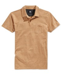 Quiksilver Men's Martini Heathered Polo Cumin