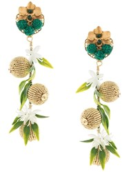 Mercedes Salazar Bead Embellished Earrings Gold