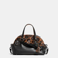 Coach Outlaw Satchel 36 In Printed Haircalf Black Copper Wild Beast