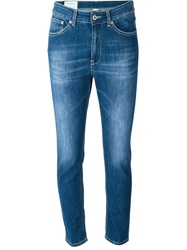 Dondup Cropped Slim Jeans Blue