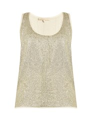 Vanessa Bruno Gerard Sequin Embellished Top Gold