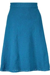 M Missoni Stretch Knit Jacquard Skirt Cobalt Blue