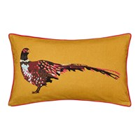 Joules Heritage Peony Cushion Gold 30X50cm