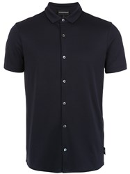 Emporio Armani Buttoned Polo Shirt Black