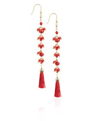 Rosantica Red Beaded Etna Earrings