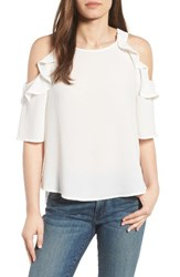 Gibson Women's Cold Shoulder Top Off White