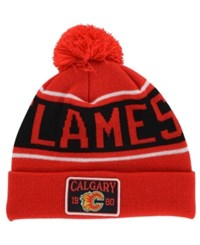 Old Time Hockey Calgary Flames Juneau Pom Knit Hat
