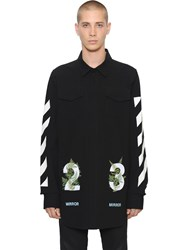 Off White 23 And Stripes Cotton Canvas Shirt