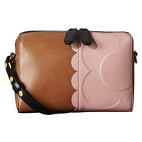 Orla Kiely Giant Scallop Annie Leather Cross Body Bag Tan