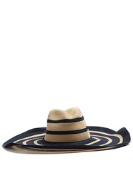 Filu Hats Fuji Hemp Straw Hat Blue Multi