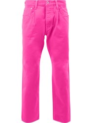 Ganryu Comme Des Garcons Straight Trousers Pink Purple