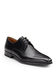 Saks Fifth Avenue By Magnanni Leather Square Toe Lace Ups Available In Extended Sizes Black