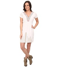 Rock And Roll Cowgirl Short Sleeve Dolman Dress Off White Women's Dress Beige