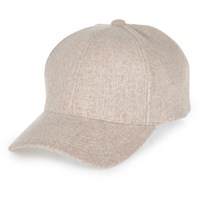 River Island Womens Pale Pink Wool Cap