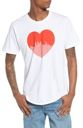 Casual Industrees Heart Graphic T Shirt White