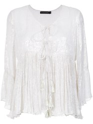 Cecilia Prado Lace Up Peasant Blouse Unavailable