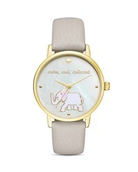 Kate Spade New York Elephant Metro Watch 34Mm White Stone