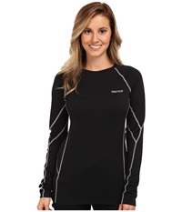 Marmot Thermalclime Sport L S Crew Black Women's Long Sleeve Pullover