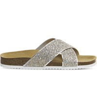 Office Hoxton 2 Glitter Sandals Pink Iridescent