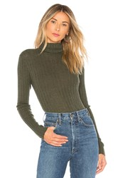 Autumn Cashmere Rib Turtleneck Dark Green