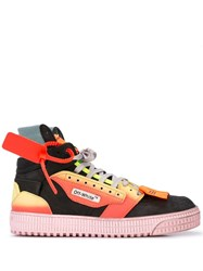 Off White Court Security Tag Sneakers Black