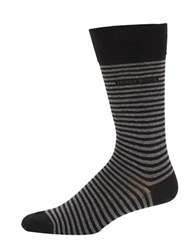 Hugo Boss Striped Socks Black