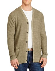 Polo Big And Tall Linen Silk Cardigan Turf Olive