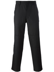 Comme Des Garcons Shirt Straight Legged Trousers Black