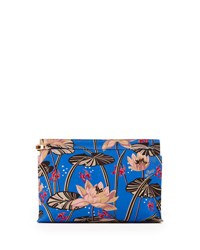 Loewe X Paula's Ibiza T Pouch Clutch Bag With Goldfish Pond Print Blue