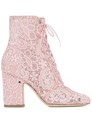 Laurence Dacade Lace Milly Boots Pink Purple