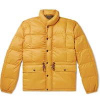 Rrl Quilted Padded Nylon Jacket Yellow