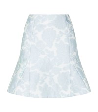Reiss Tulip Jacquard Skirt Female Sky
