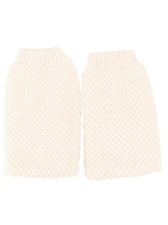 Maison Martin Margiela Fingerless Gloves White