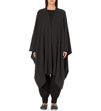 Madeleine Thompson Cashmere Cable Knit Wrap Charcoal