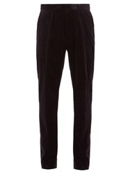 The Row Walker Cotton Blend Corduroy Trousers Navy