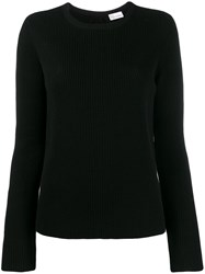 Red Valentino Point D'esprit Tulle Sweater Black