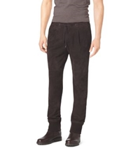 Michael Kors Suede Track Pants Chocolate