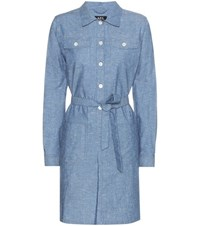 A.P.C. Dolly Chambray Dress Blue