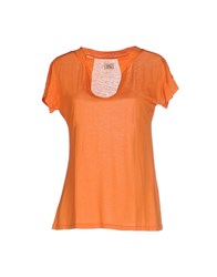 Siyu Topwear T Shirts Women Orange