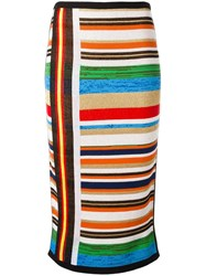 N 21 No21 Striped Knit Skirt