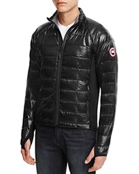 Canada Goose Hybridge Lite Quilted Down Jacket Black Shell Red Lining
