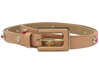 Kate Spade 3 4 Leather Belt W Enamel And Metal Studs Masala Women's Belts Beige